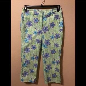 Vintage Lilly Pulitzer casual print pants size 8